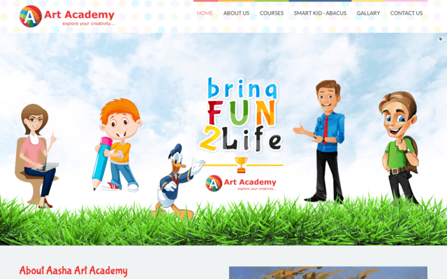 KD Enterprises Web Development - Asha Art Academy
