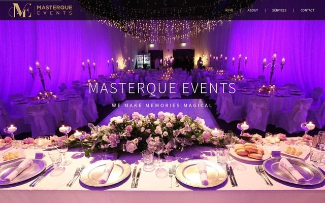 KD Enterprises Web Development - Masterque Events